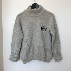 Sweaters - Cute Standing Collar Hollow Sweater